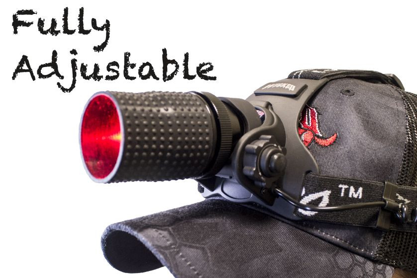 Wicked Lights ScanPro iC Red night Hunting Headlamp Kit fully adjustable