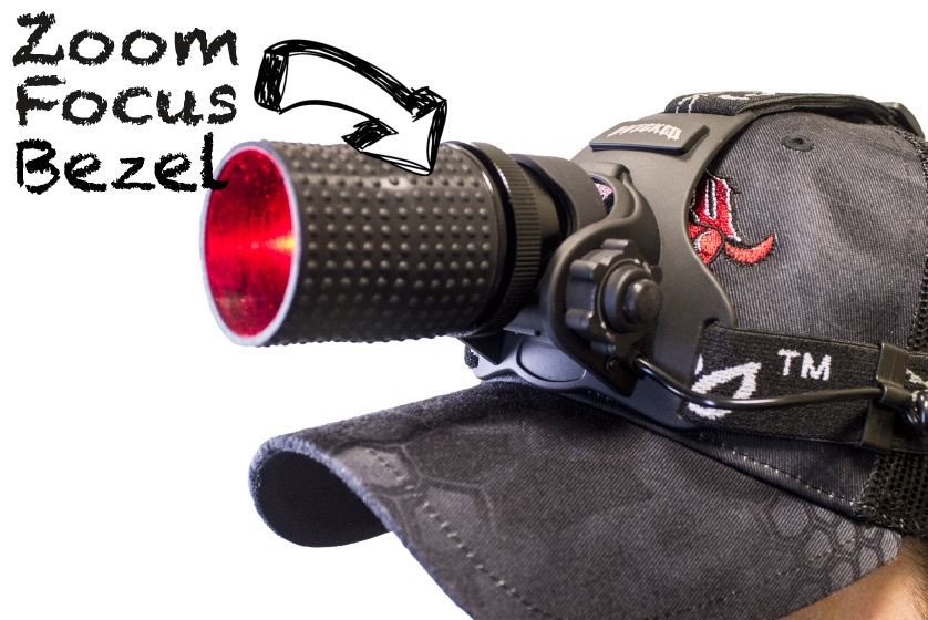 Wicked Lights ScanPro iC Red night Hunting Headlamp Kit zoom focus bezel