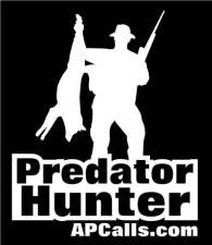 AllPredatorCalls.com Predator Hunter Window Decal