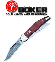 Boker Classic Folding Hunter Knife with Rosewood Handles 112020