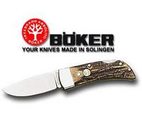 Boker Gentlemans Folder Stag Handle Lock Back Folding Pocket Knife 111006
