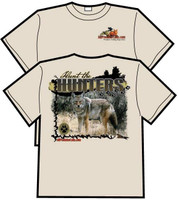 AllPredatorCalls Field Staff Hunt the Hunters Tan TShirt Heavy Weight Cotton