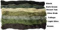 Mil Spec Plus 1 Pound BLACK Ghillie Suit Yarn 029129Black D