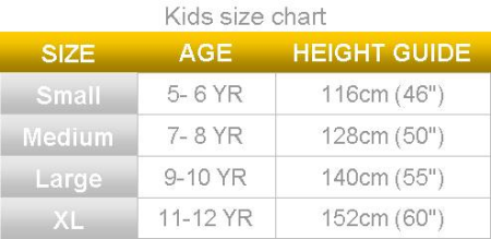 Bike Size Chart Kids Warranty Information