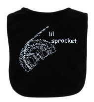 Lil Sprocket Cycling Theme Infant Bib by Spindaroos