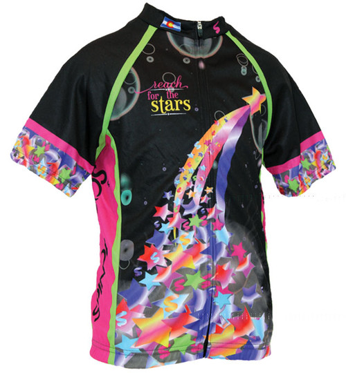 Spin2 Reach for the Stars Kids Cycling Jersey front