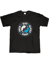 Eat Sleep Poop Ride T-Shirt, Boys Cycling T-Shirt