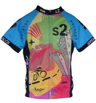Spin2 Kids Graffiti Cycling Jersey