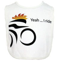 Yeah I Ride Cycling Theme Bib