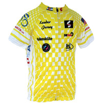 Spin2 Kids Yellow Leader Cycling Jersey