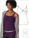 Glamourmom® Nursing Bra Full Bust Long Top