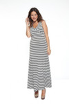 NOM Striped Maxi Dress