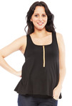 Molly Ades Maternity/Nursing Black Flutter Tank