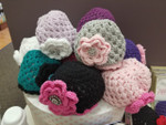 Handmade Crocheted Flower Hats