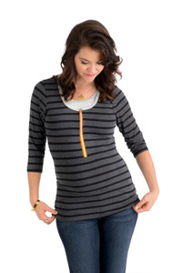 Black & Charcoal Stripe