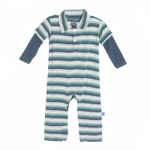 KicKee Pants® Long Sleeve Polo Romper