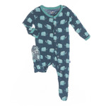KicKee Pants® Print Footie in Peacock Mammoth