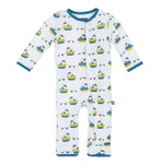 Kickee Pants® Print Coverall in Four and Twenty Blackbirds
