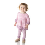 Kickee Pants® Long Sleeve Babydoll Outfit Set in Sweet Pea Lattice