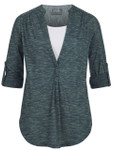 Milk Nursingwear® Roll-Tab Printed Nursing and Maternity Tunic Top in Green