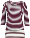 Milk Nursingwear® Contrast Striped Nursing Top