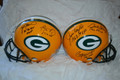 **Limited-Time Super Discount** The 5MVP Signed Green Bay Packers Proline Helmet Signed by Paul Hornung, Jim Taylor, Bart Starr, Brett Favre, and Aaron Rodgers
