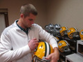 Jordy Nelson Authentic Autographed Green Bay Packers Official NFL 'Speed' Helmet with FREE Inscription SB XLV CHAMPS