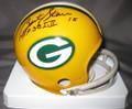 Bart Starr Autographed Green Bay Packers Mini Helmet w/SB MVP Inscription (only 1 left)
