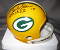 Bart Starr Autographed Green Bay Packers Mini Helmet w/SB MVP Inscription
