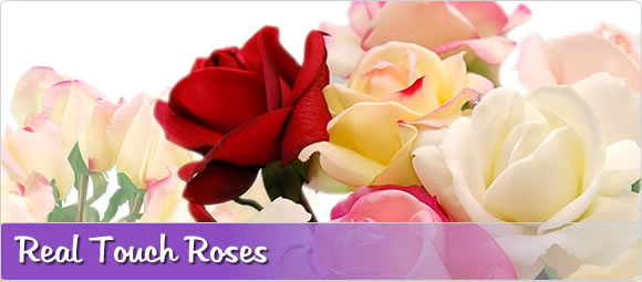 Flowers by design real touch artificial silk fake flowers plants real touch artificial roses mightylinksfo