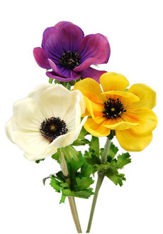 Real touch artificial poppy anemone floramatique silk poppies loading zoom real touch artificial poppy flowers mightylinksfo