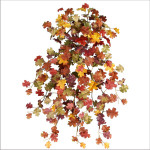 Mini Fall Oak Leaf Hanging Bush