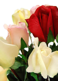 Real Touch Artificial Flowers - Rose Buds