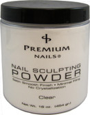 Premium Nail Sculpting Powder CLEAR 16 oz (454 gr.)
