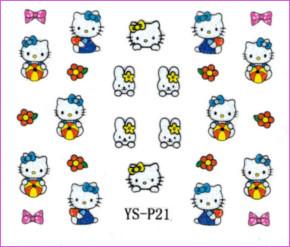 3d Nail Sticker Hello Kitty Ys P21 Diamond Nail Supply Llc
