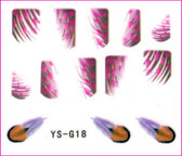 3D Nail Sticker-Feather #YS-G18