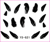 3D Nail Sticker-Feather #YS-G21