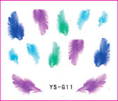 3D Nail Sticker-Feather #YS-G11