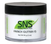 SNS White Glitter F3 Powder