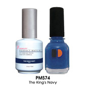 Perfect Match - PMS74 The Kings Navy 2/Pack