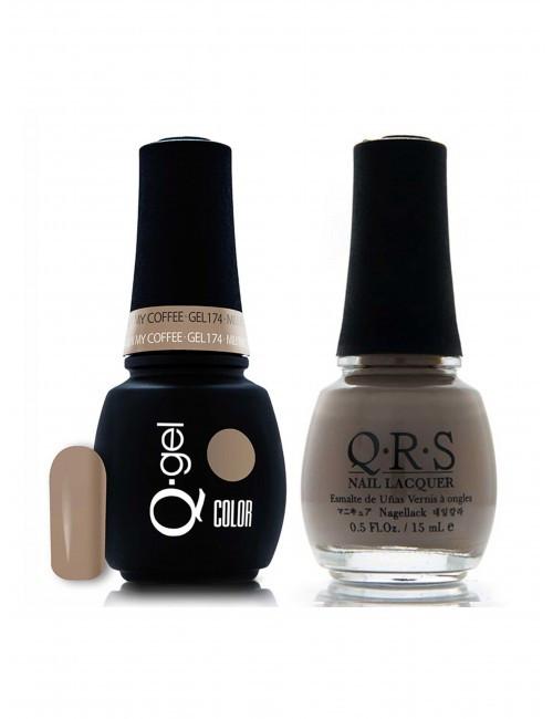 174 - QRS Gel Duo - Milk In My Coffee - Diamond Nail Supply, LLC