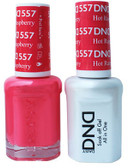 #557 - DND DUO GEL WITH MATCHING POLISH - HOT RASPBERRY