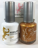 Lechat Nobility Gel and Polish Duo - Gold (0.5 fl oz)