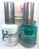 Lechat Nobility Gel and Polish Duo - Teal (0.5 fl oz)