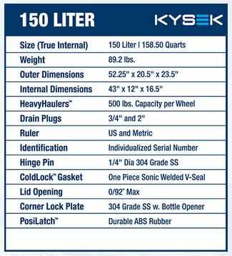 KYSEK 150 Liter Cooler - Premium Ice Coolers