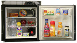 Built in front-opening Engel 12v/24v DC fridge with freezer tray.