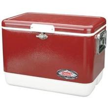 54 Quart Steel Belted Coleman Cooler - Red
