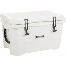 40 Qt. Grizzly Cooler - White/White