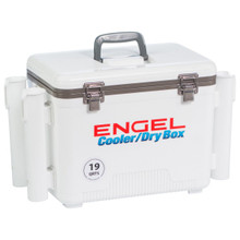 Engel- 19 Quart DryBox Cooler with Rod Holders