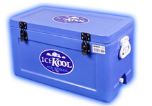 Icekool 45 liter (49 Quart) cooler ice chest blue